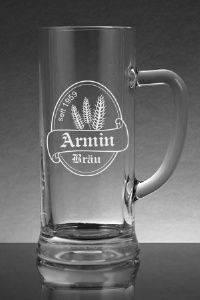 Bierkrug mit edler Gravur für den Bierkenner