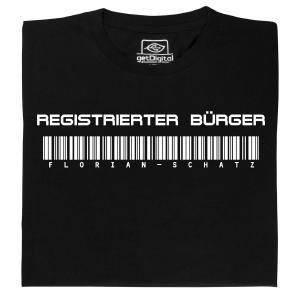 Fair gehandeltes Öko-T-Shirt: Registrierter Bürger