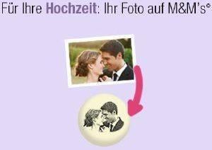 Für Ihre Hochzeit: Ihr Foto auf M&M's