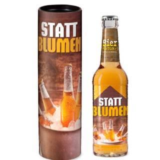 """Geschenk-Bier """"Statt Blumen"""""""
