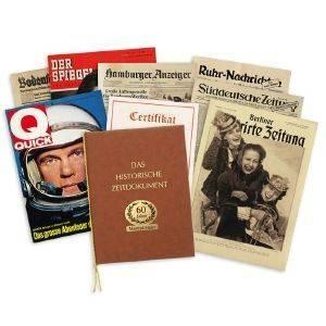 Geschenkidee: Original-Zeitung zu jedem Geburtstag 1900-2014