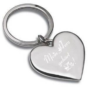 Gravur-Schlüsselanhänger Shiny Heart