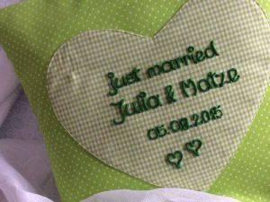 Kissen Herz personalisiert