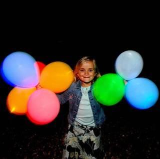 Leuchtende LED-Luftballons