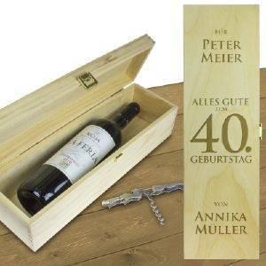 Personalisierte Weinkiste - Geburtstag