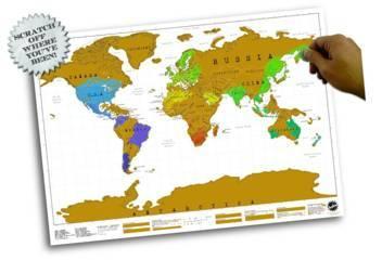 Rubbel-Weltkarte im Posterformat