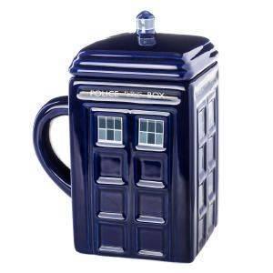 TARDIS Tasse mit Deckel